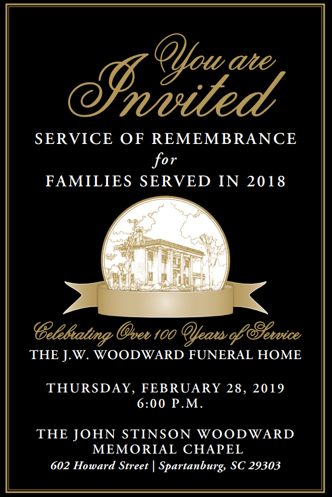 Spartanburg, South Carolina Funeral Homes | J W  Woodward